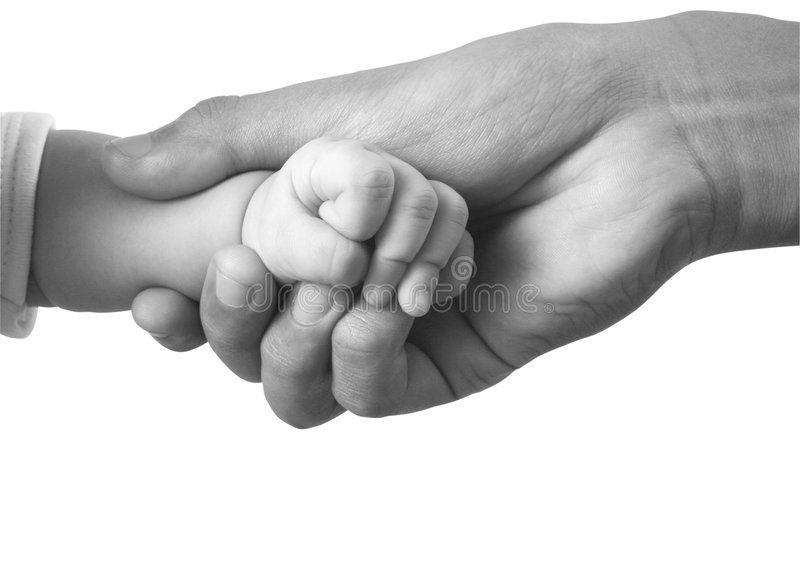 Mão do bebê imagem de stock