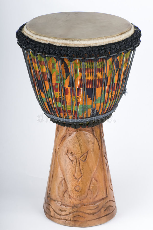 Mão do cilindro de Jemba cinzelada fotografia de stock royalty free