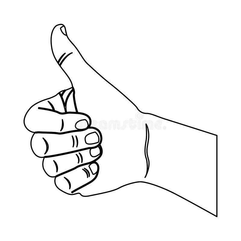 mão do contorno todo o bom ícone ilustração royalty free