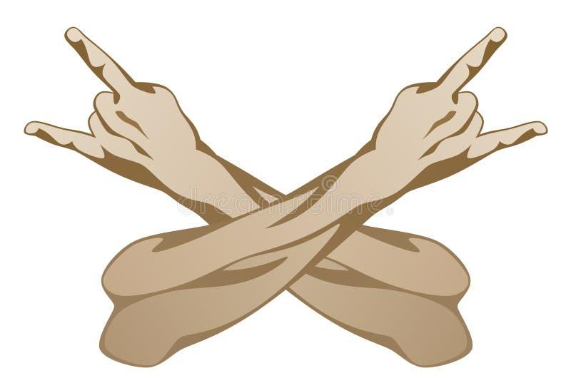 Mão do cruzamento ilustração do vetor