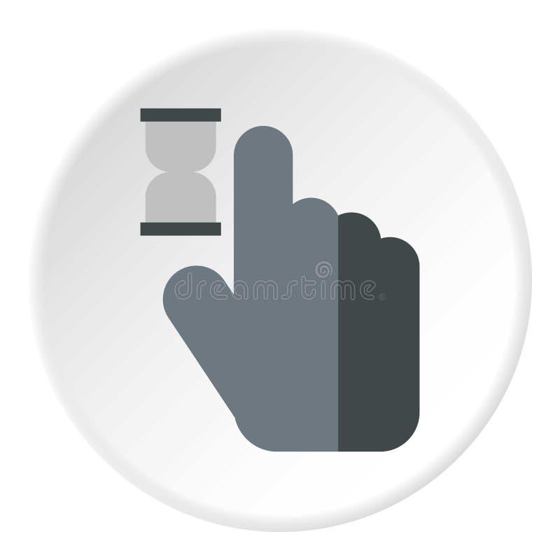 Mão do cursor no ícone da antecipação, estilo liso ilustração royalty free