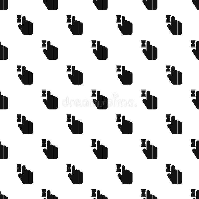 Mão do cursor no teste padrão da antecipação, estilo simples ilustração royalty free