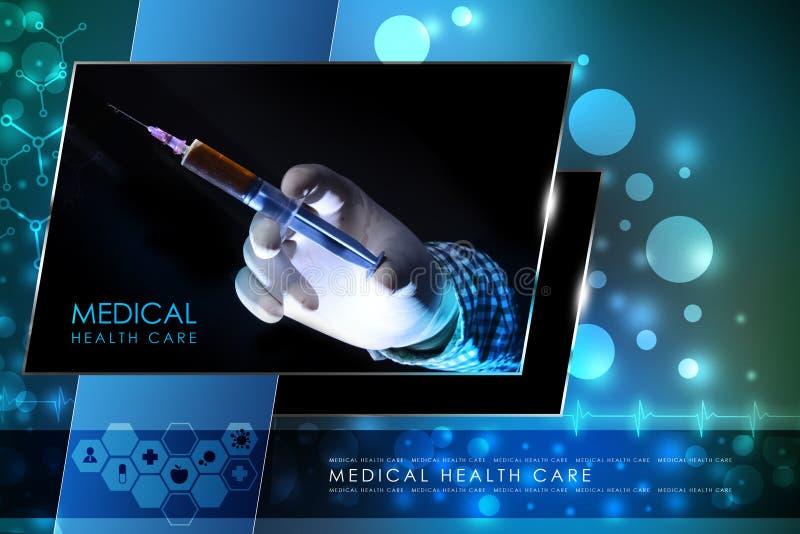 Mão do doutor com seringa fotos de stock