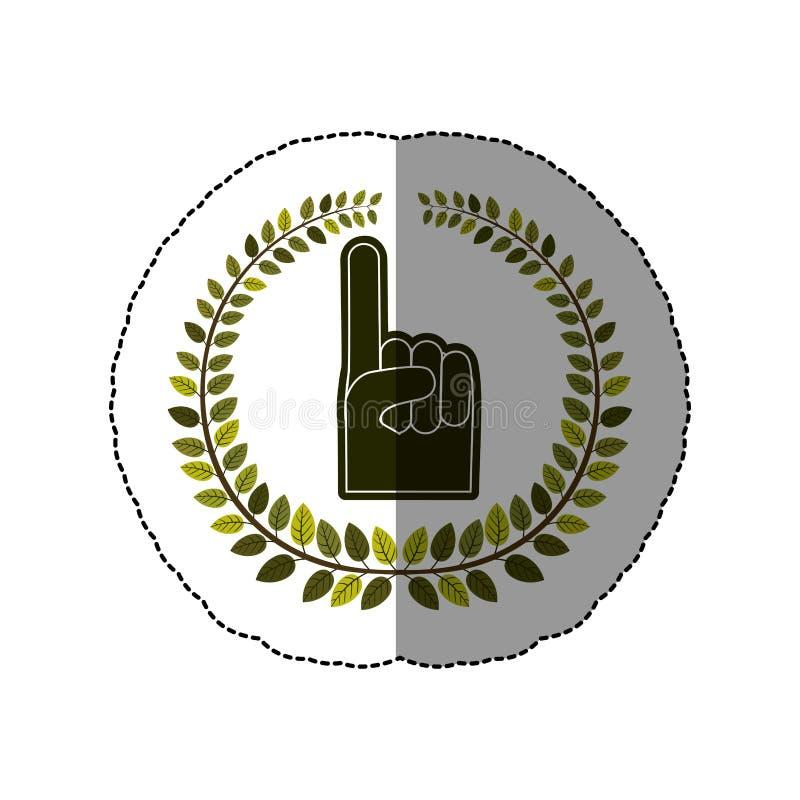 mão do emblema você está aqui símbolo ilustração stock