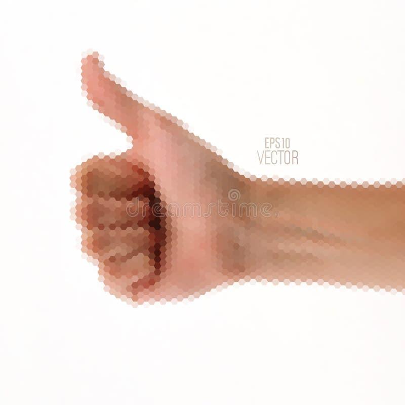Mão do gesto do vetor do triângulo ilustração do vetor