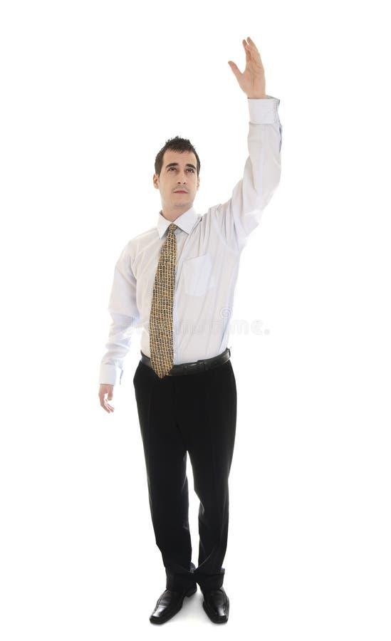Mão do homem de negócio acima foto de stock
