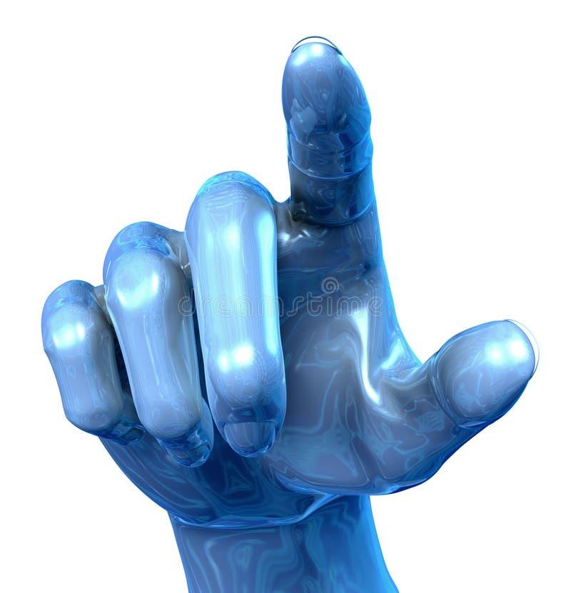 Mão do metal ilustração royalty free