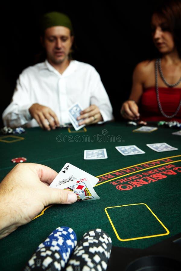 Mão do póquer fotografia de stock royalty free