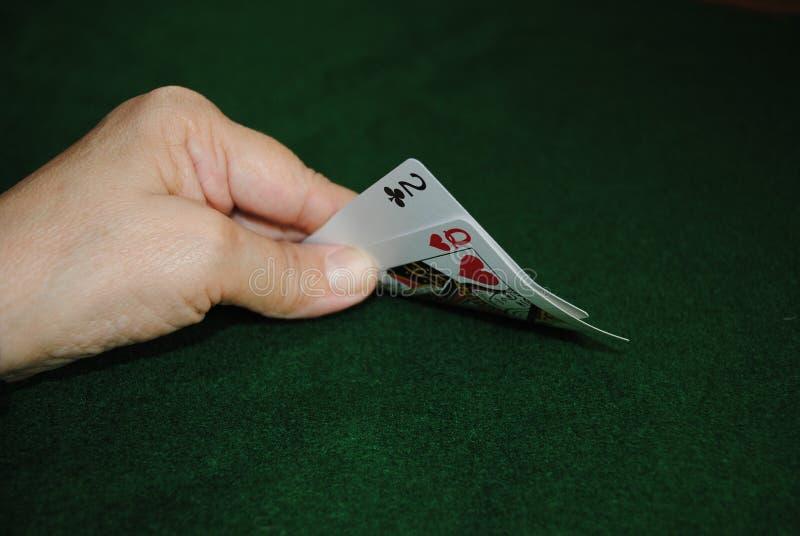 Mão do póquer fotos de stock