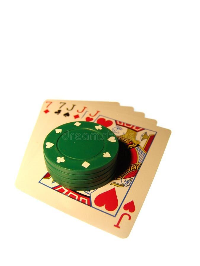 Mão do póquer imagens de stock