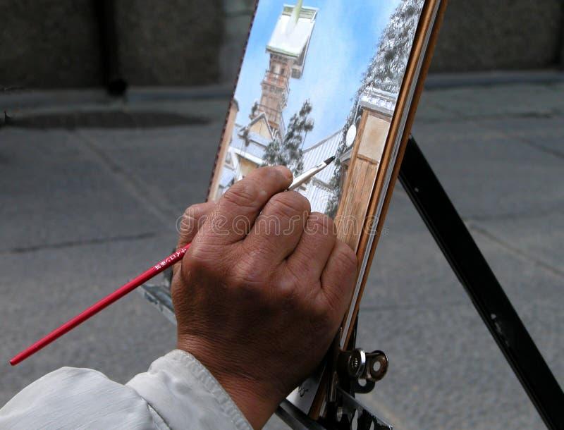 Mão do pintor fotografia de stock royalty free