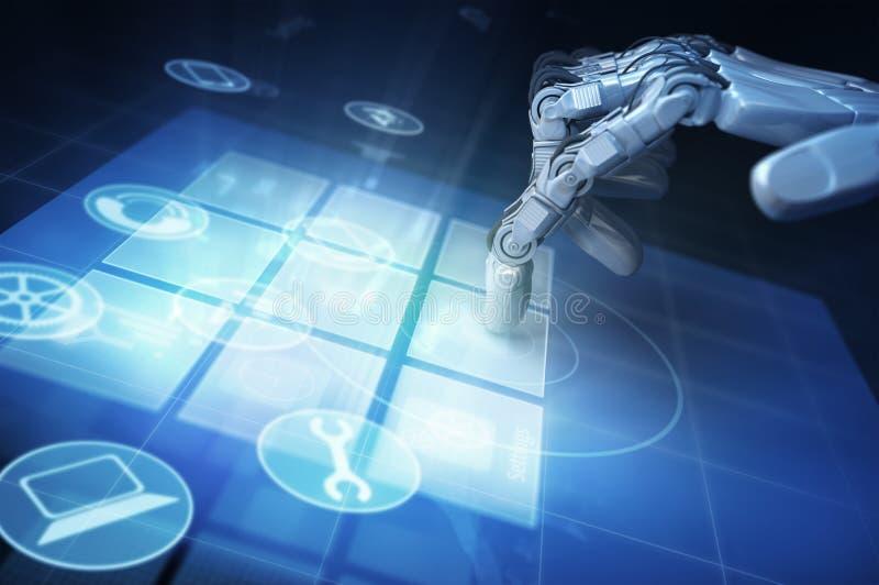 Mão do robô ilustração royalty free