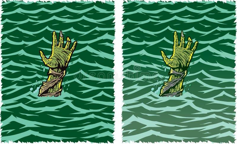 Mão do zombi ilustração stock
