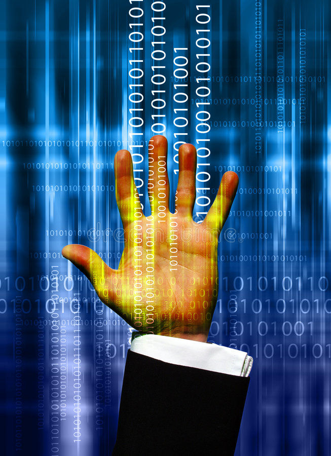 Mão dos dados ilustração do vetor
