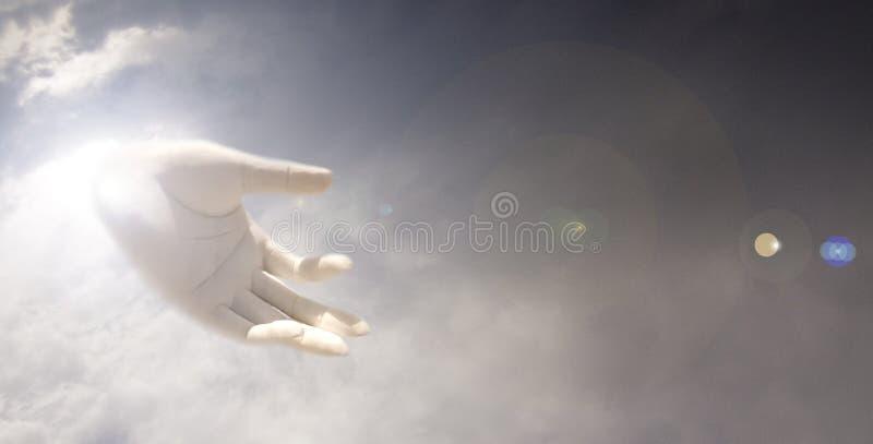 Mão dos deuses ilustração do vetor