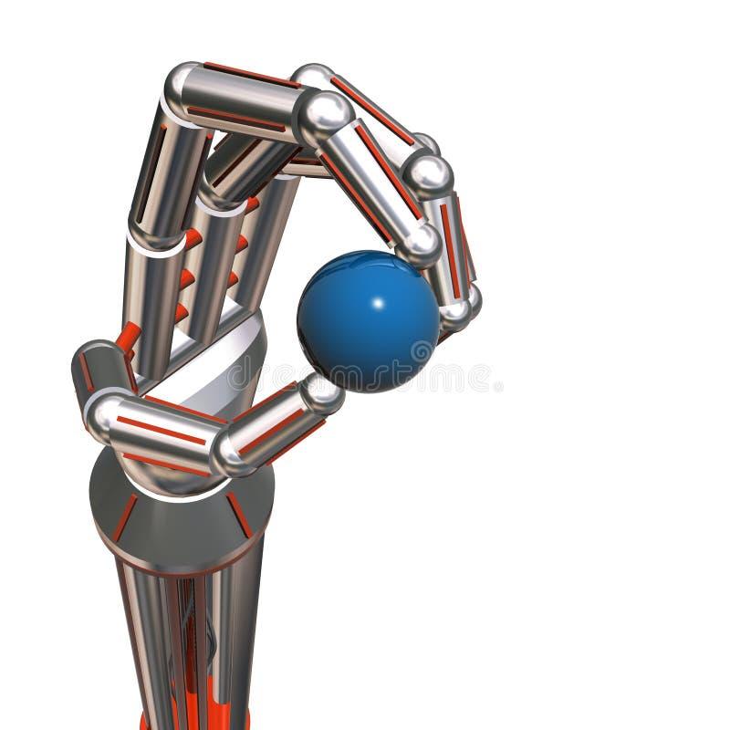 Mão dos robôs ilustração do vetor