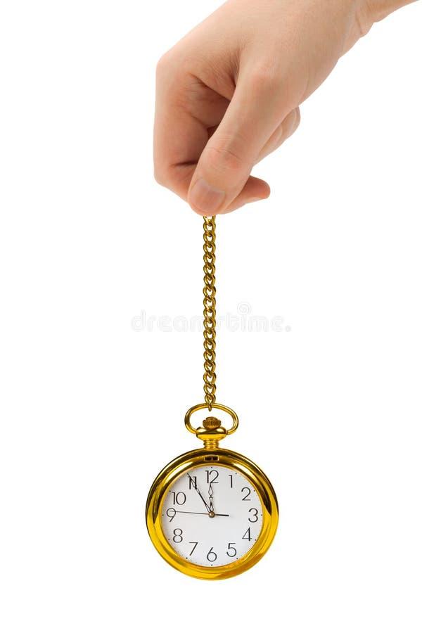 Mão e relógio retro imagens de stock royalty free