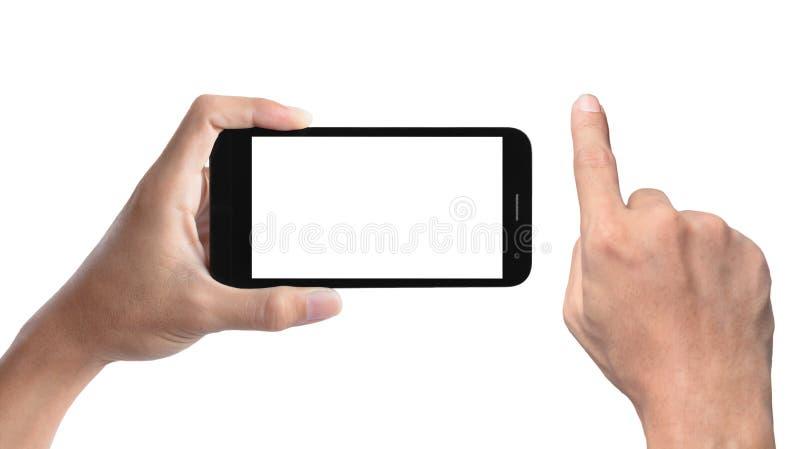 Mão e smartphone fotos de stock royalty free