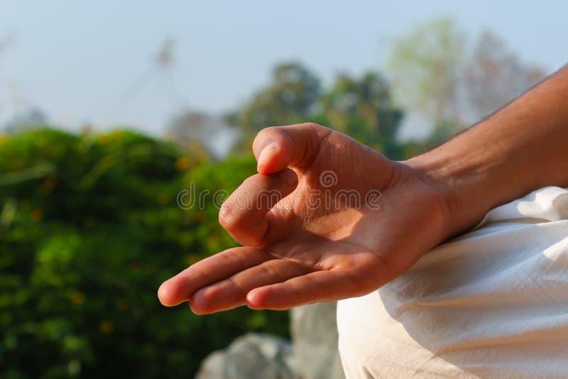Mão em Jnana Mudra imagens de stock