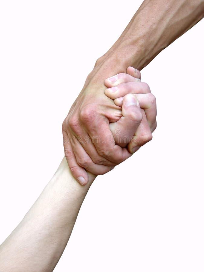 Mão em uma mão imagens de stock