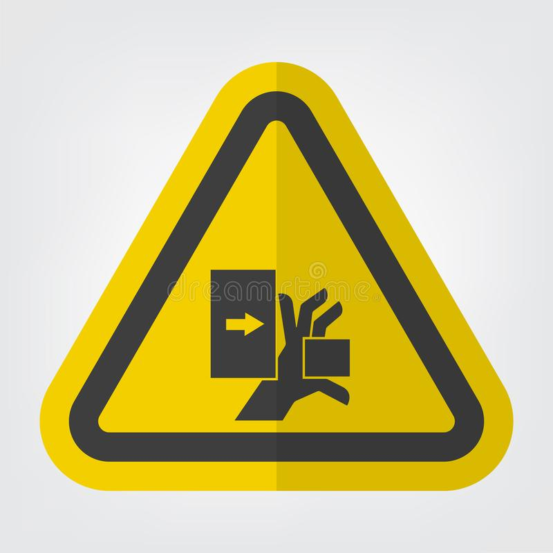 A mão esmaga a força do isolado esquerdo do sinal do símbolo no fundo branco, ilustração EPS do vetor 10 ilustração royalty free