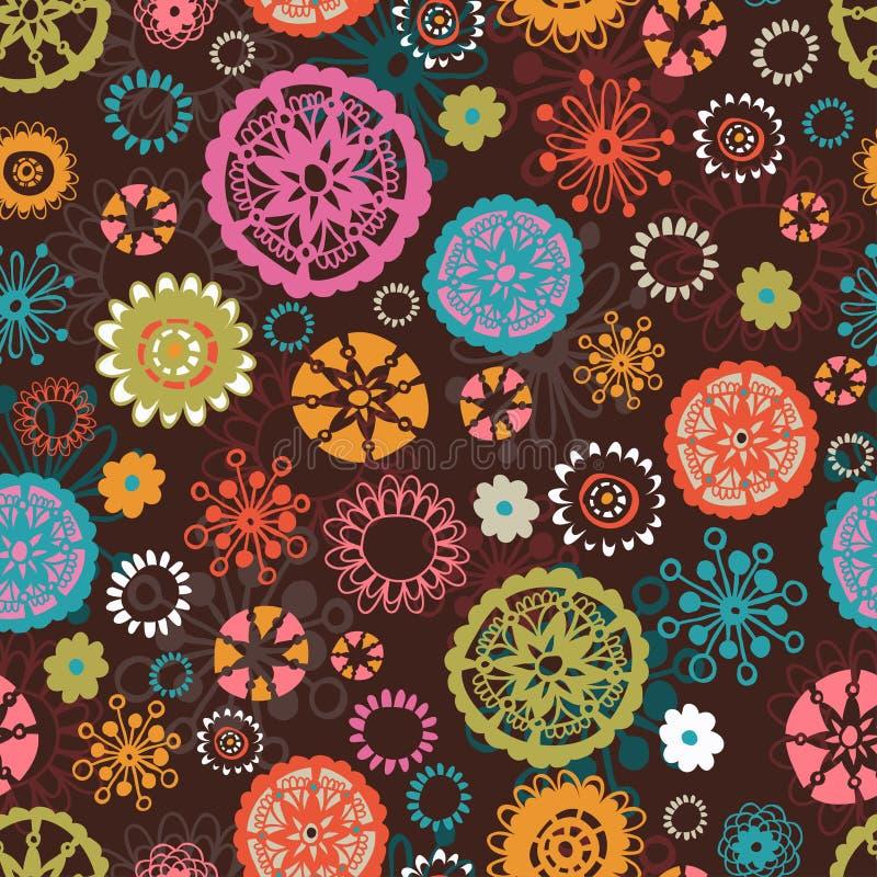 Download Teste Padrão Sem Emenda Floral Amusing Ilustração do Vetor - Ilustração de beleza, doodle: 29842054