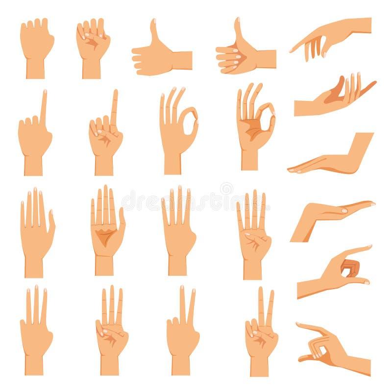 Mão fêmea ilustração stock