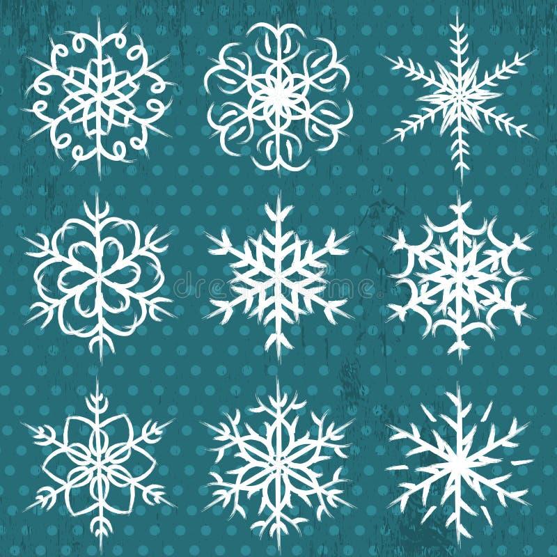 Download Mão - Flocos De Neve Feitos No Fundo Azul, Vetor Ilustração do Vetor - Ilustração de mão, projeto: 26515741