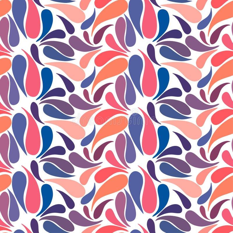 Mão floral colorida étnica teste padrão sem emenda tirado do slyle da garatuja ilustração stock