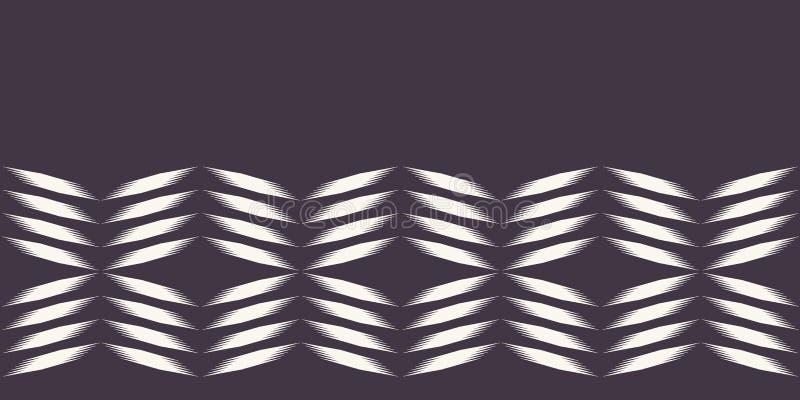 Mão geométrica moderna beira tecida tirada do estilo da tintura do laço Repetindo o fundo abstrato do inclinação Geo monocromátic ilustração stock