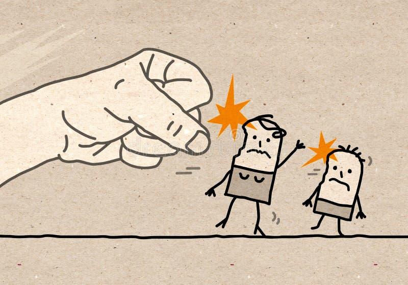 Mão grande - violência ilustração royalty free
