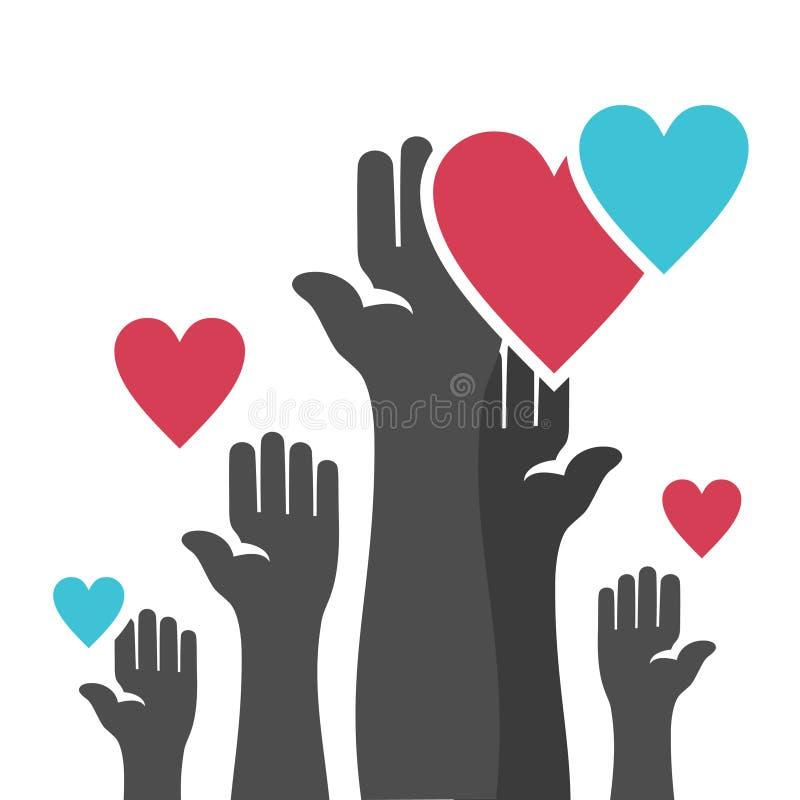 Mão heart4 ilustração royalty free