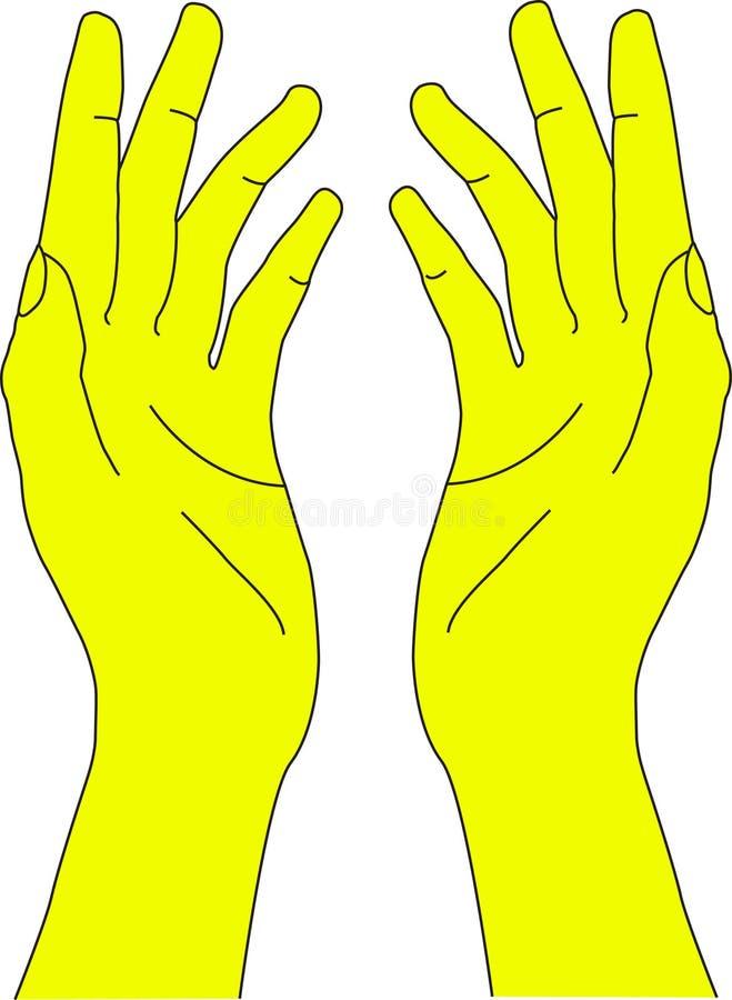 Mão humana imagem de stock