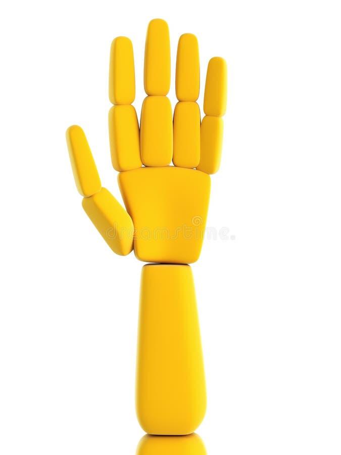 Mão humana simbólica isolada ilustração do vetor