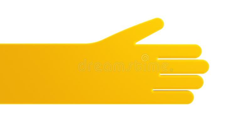 Mão humana simbólica isolada ilustração stock