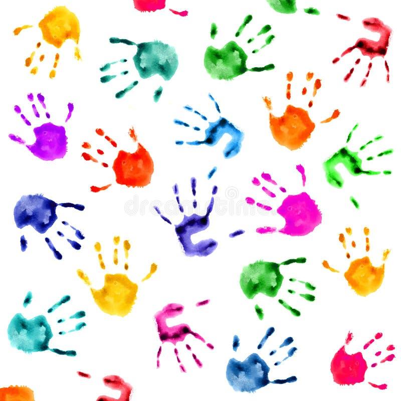 A mão imprime o fundo ilustração stock