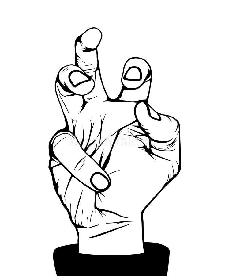 Mão irritada ilustração do vetor
