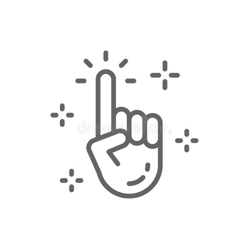 M?o limpa do vetor, cursor, linha ?cone do clique ilustração do vetor