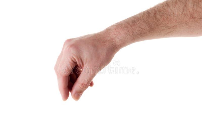 Mão masculina que escolhe seu objeto imagens de stock royalty free