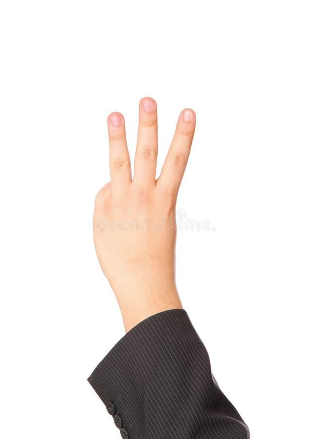 A mão mostra o gesto imagem de stock royalty free