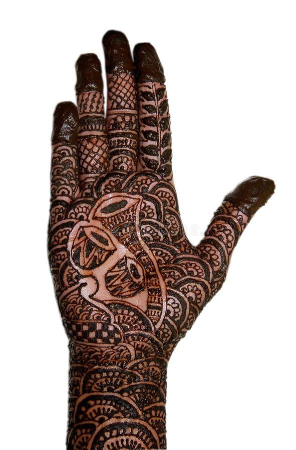 Mão nupcial bonita imagem de stock