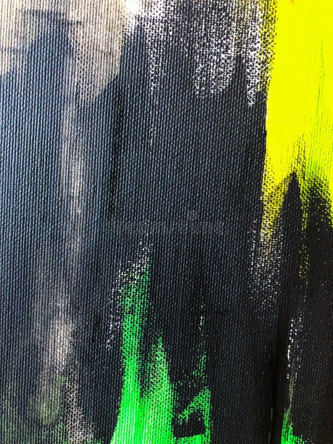 Mão original pintura acrílica tirada na lona Arte contemporânea ilustração do vetor