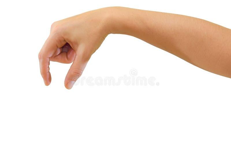 Mão para prender o objeto pequeno foto de stock royalty free
