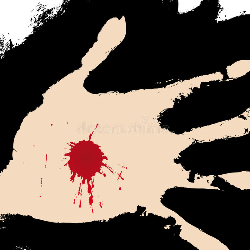 Mão perfurada (vetor) ilustração royalty free