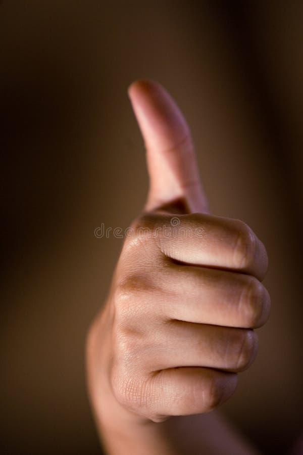 Mão-polegares acima foto de stock royalty free