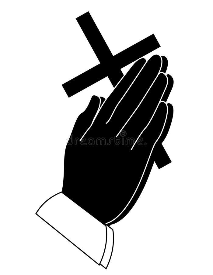 Mão Praying ilustração royalty free