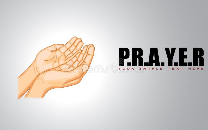 Mão Praying ilustração stock