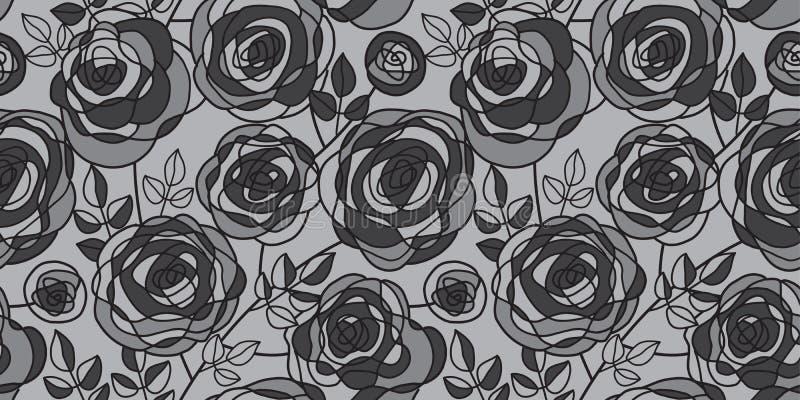 Mão preta e cinzenta motivo cor-de-rosa tirado ilustração royalty free