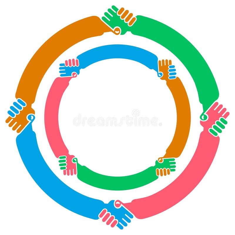 Mão que agita circularmente ilustração stock