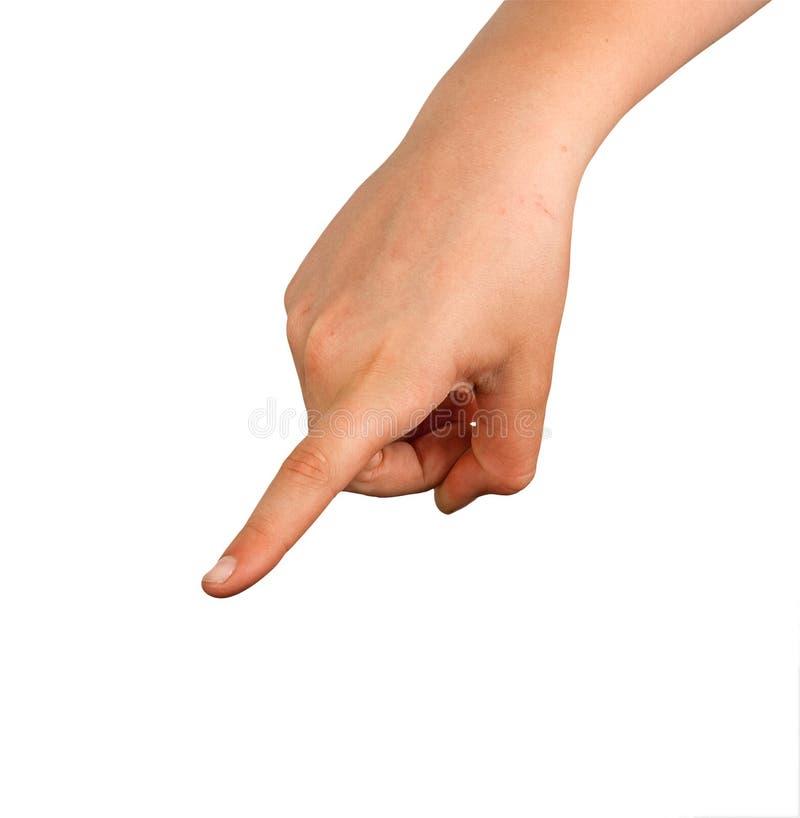 Download Mão que aponta à esquerda imagem de stock. Imagem de isolado - 16856925